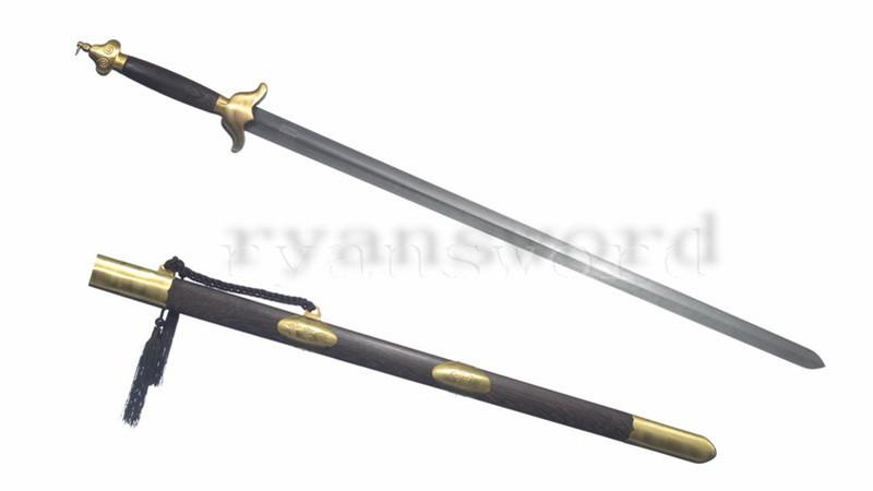 Taiji Jian Chinese Sword Wushu Martial Art Equiment Brass Fittings Dull--rsj225