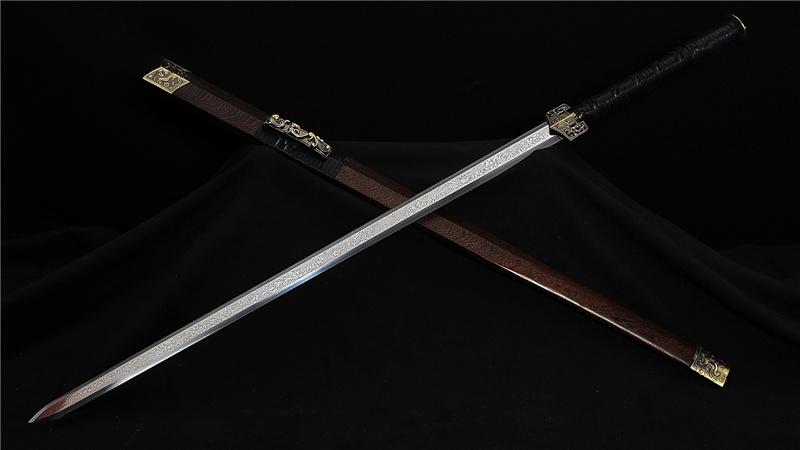 Han Jian Chinese Sword Folded Steel Blade Alloy Fittings--rsj227