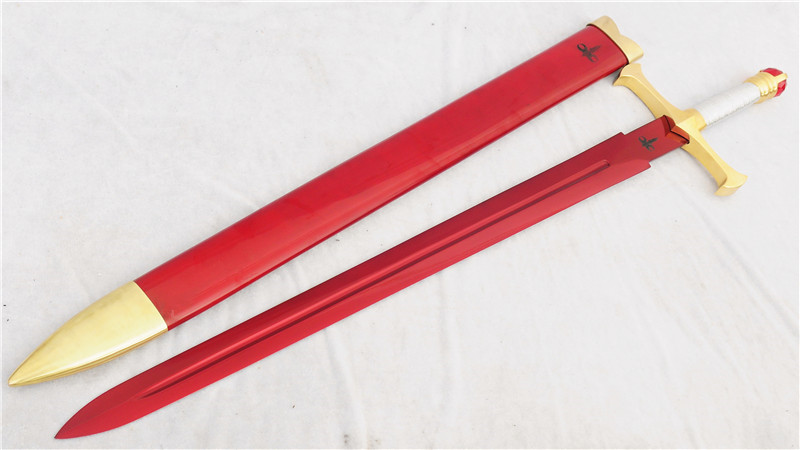 Zar'roc Eragon Movie Sword Handmade 1095 High Carbon Steel Red Blade--Ryan1324