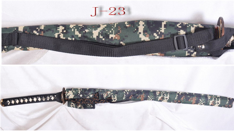 Waterproof Sword Bag with Strap for Katana Camouflage Nylon J-23