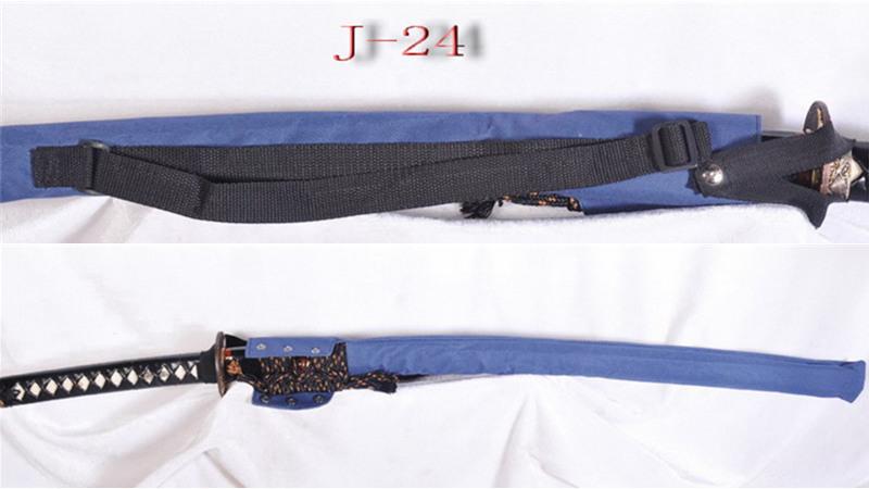 Waterproof Sword Bag with Strap for Katana Blue Nylon J-24