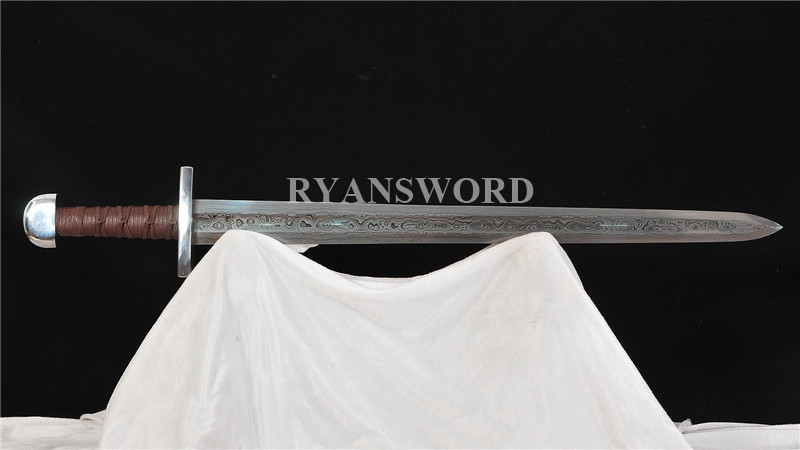 Viking Sword Damascus 1095 Folded  Steel--Ryan1367