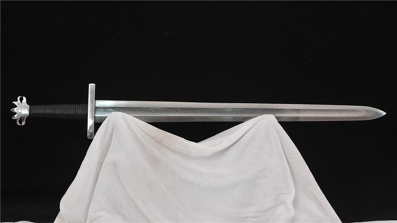 Handmade Viking Sword 1095 Folded Steel Iron Fittings--Ryan1368