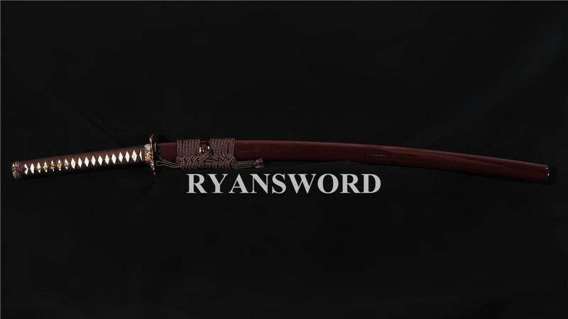 Honsanmai Clay Tempered Katana Hand-Engraved Blade--Ryan1385