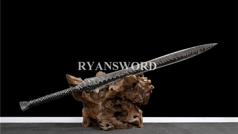Handmade Spear Sword Folded Steel--Ryan1393
