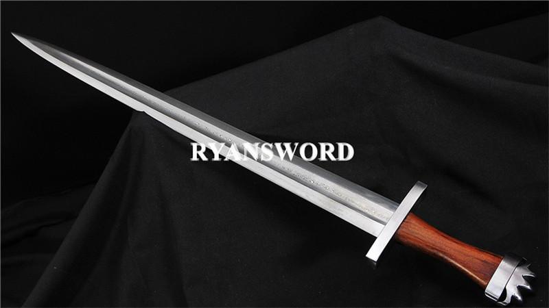 Handmade Viking Sword 1095 Folded Steel Wood Handle--Ryan1400