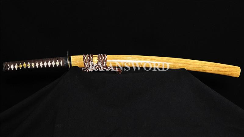 Razor Sharp Wakizashi Folded Steel Blade Iron Fittings--Ryan1406