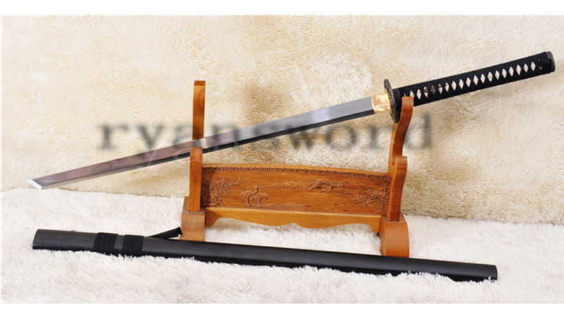 Ninja Chokuto Straight Blade KIRIHA-ZUKURI Shape 1060 Carbon Steel Light Cutting--Ryan1010
