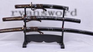 Dashio Japanese Sword Set Katana+Wakizashi+Tanto Unokubi-Zukuri Blade Full Tang--Ryan1034