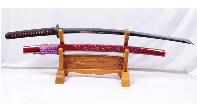 HANDMADE TAMAHAGANE KATANA  DRAGON SAYA MEDIUM CUTTING--Ryan1043