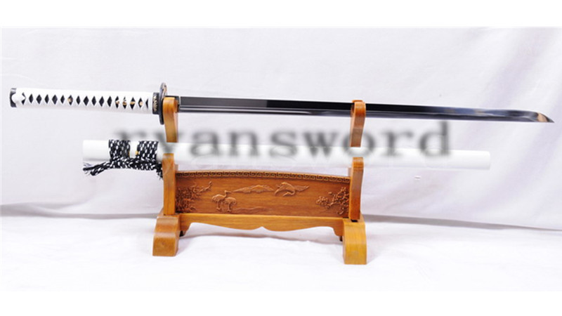 9260 Spring Steel Ninja Japanese Sword Straight Blade Bamboo Tsuba Medium Cutting--Ryan1046