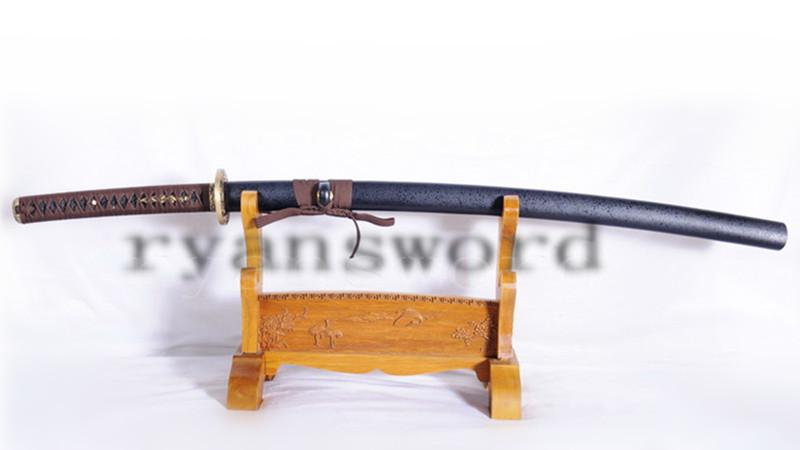 9260 Spring Steel Katana Japanese Sword Brass Tsuba Unokubi-Zukuri Blade --Ryan1050