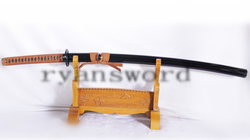 Katana Japanese Sword 1095 High Carbon Steel Fake Hamon Full Tang--Ryan1056