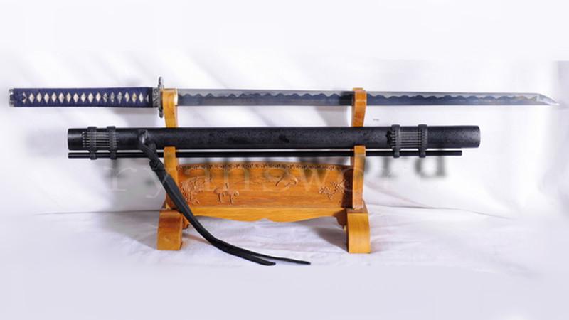 Heavy Cutting Ninja Chokuto Damascus 1095 Folded Steel with Blowing Needles--Ryan1072