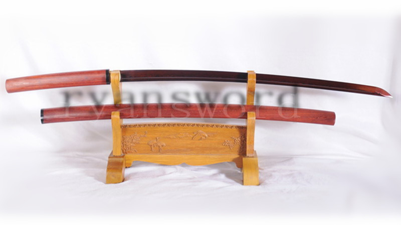 Shirasaya Katana Japanese Sword Redwood Saya Reddish Black Blade-Ryan1107