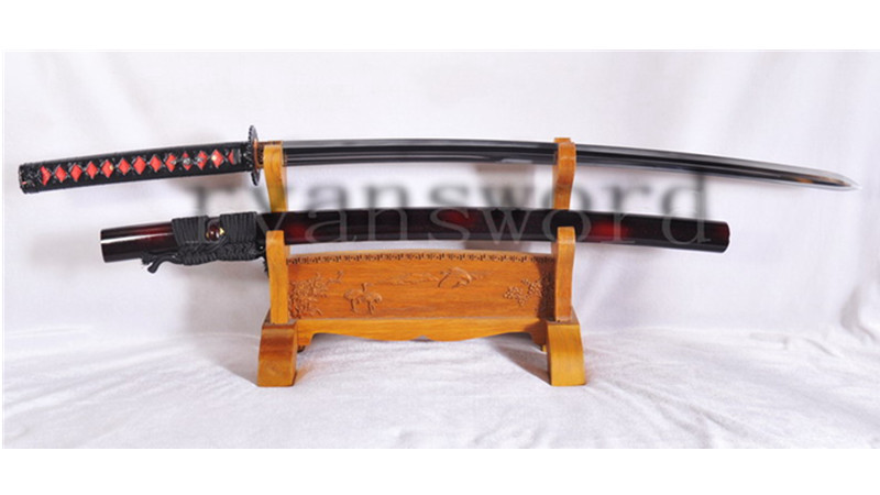 Kobuse Katana Little Crow Style Japanese Samurai Sword Double Edge Full Tang--Ryan1118