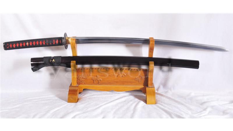 Little Crow Katana Japanese Samurai Sword Double Edge Folded Steel Light Cutting--Ryan1123