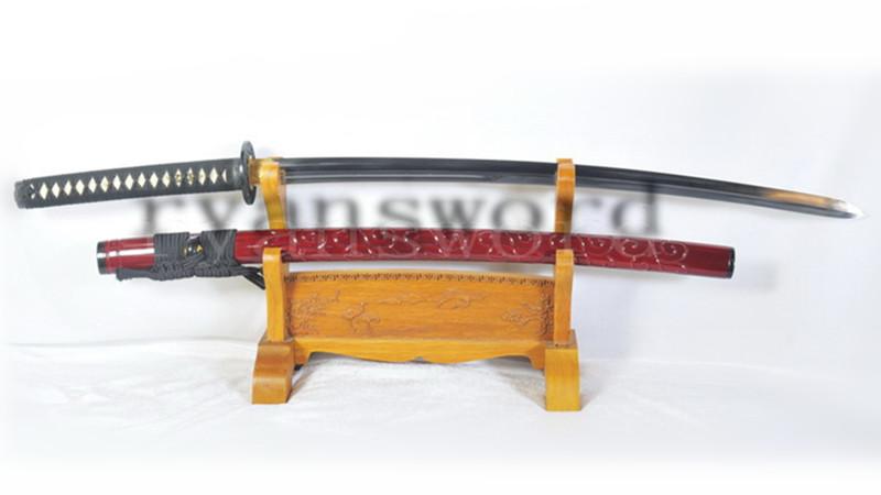 Little Crow Katana Kogarasu-Maru Sword 1095 Steel Clay Tempered Double Edge--Ryan1129