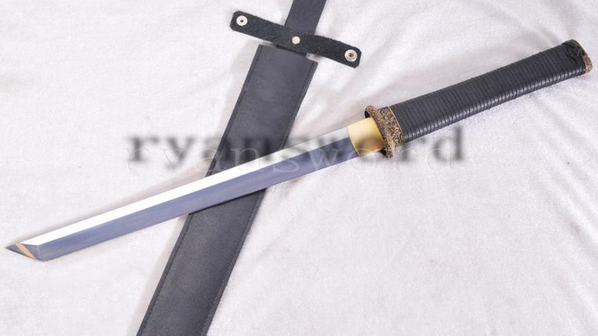 Short Sword Straight Blade Outdoor Survival 1095 High Carbon Steel Full Tang--Ryan1135