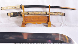 Clay Tempered Katana Japanese Sword Shell Saya Honsanmai Full Tang Sharp--Ryan1136