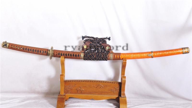 High Quality Tachi Japanese Samurai Sword Damascus Steel--Ryan1144
