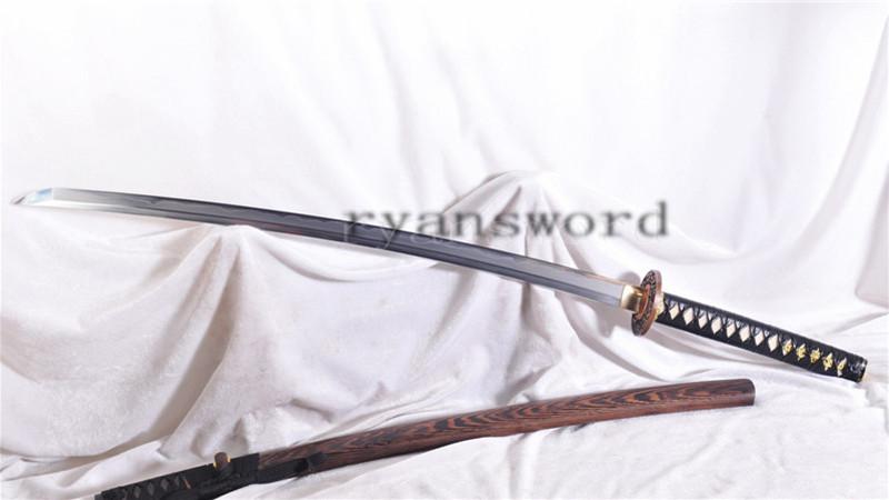 Clay Tempered Shihozume Katana Japanese Samurai Sword Hazuya Polish Functional--Ryan1146
