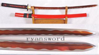 Kogarasu-maru Katana Little Crow 1095 Steel Japanese Samurai Sword Red Blade--Ryan1152