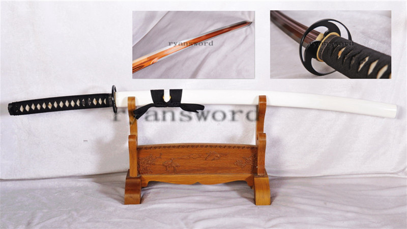 1095 Steel katana Japanese Sword Little Crow Double Edge Red Blade Battle Ready--Ryan1153