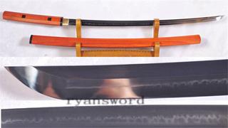 Katana 1095 Carbon Steel Clay Tempered Shirasaya Light Cutting--Ryan1159