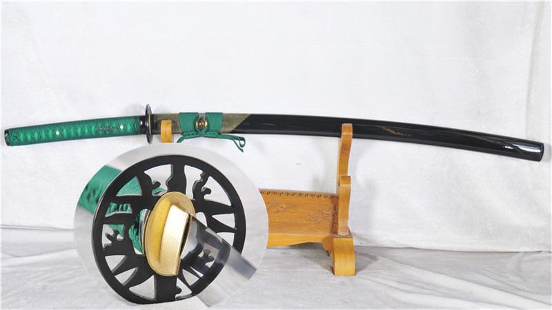Handmade Clay Tempered Katana Japanese Samurai Sword Genuine Rayskin Saya Heavy Cutting--Ryan1173
