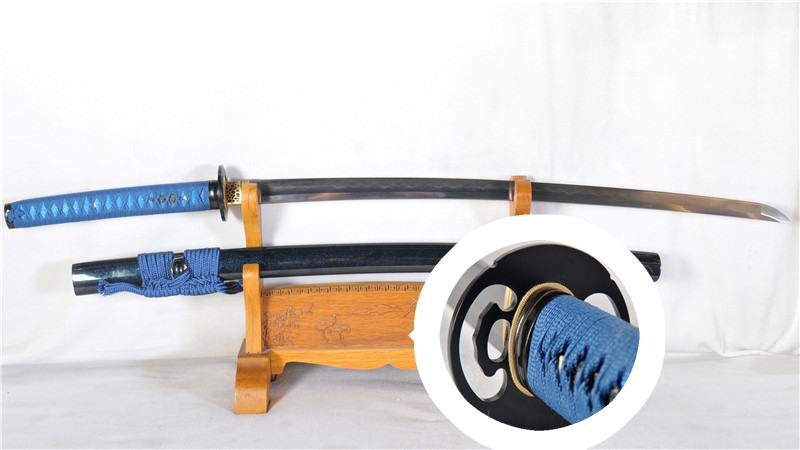 Folded Steel Katana Clay Tempered Japanese Samurai Sword Full Tang Heavy Cutting--Ryan1185