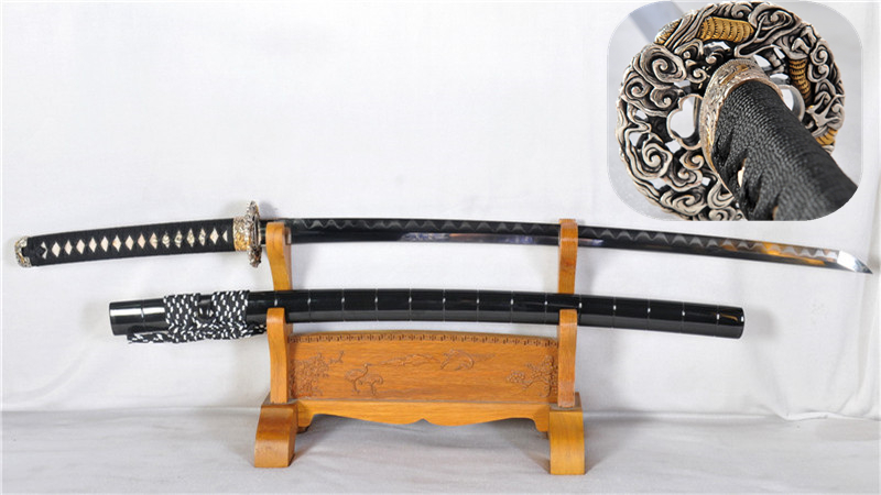High End Clay Tempered Katana Combined Material Gyaku-Kobuse Structure Sharp--Ryan1186