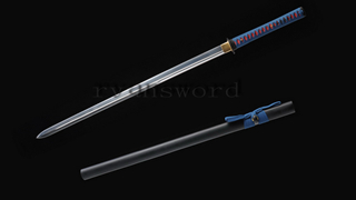 Double Edged Straight Blade Sword Ninja 1095 High Carbon Steel Strong Full Tang Light Cutting--Ryan1212