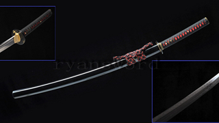 Katana Clay Tempered Double Hamon Kanmuri-Otoshi Zukuri Light Cutting--Ryan1213