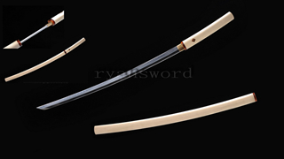 Sakabato Reversed-Edge Shirasaya Katana Japanese Sword 1095 Steel Clay Tempered Light Cutting--Ryan1218