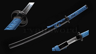 Wakizashi Japanese Sword 1095 High Carbon Steel Full Tang Iron Tsuba Functional--Ryan1237