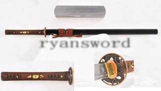Ninja Sword Straight Blade Chokuto Folded Steel Dragon Tsuba Battle Ready--Ryan1240