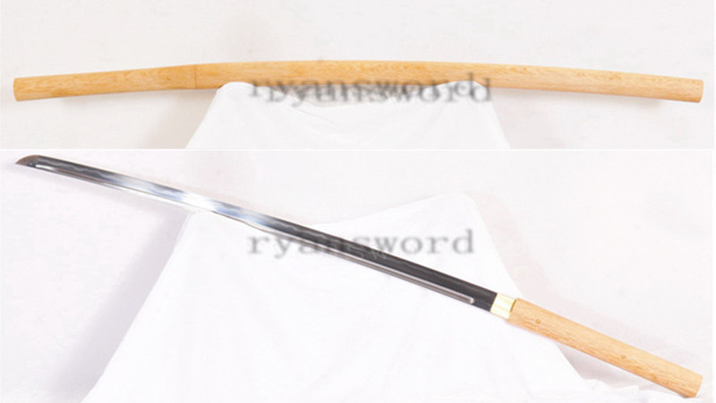 Clay Tempered Shirasaya Katana Sanmai Combined Material Full Tang Sharp Light Cutting--Ryan1244