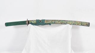 Wakizashi Japanese Sword 9260 Spring Steel Clay Tempered Shell Saya Functional--Ryan1245