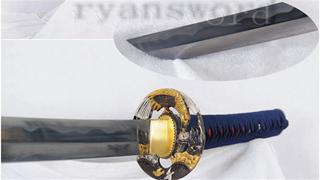 Sakabato Katana Japanese Sword Reversed Cutting Edge 1095 Steel Sharp Full Tang--Ryan1288