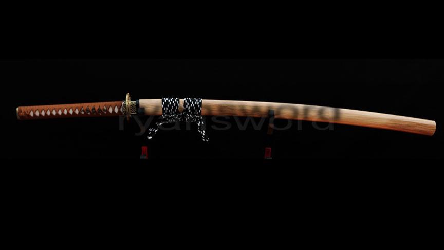 1095 High Carbon Steel Katana Clay Tempred Full Tang Brass Dragon Tsuba Heavy Cutting--Ryan208