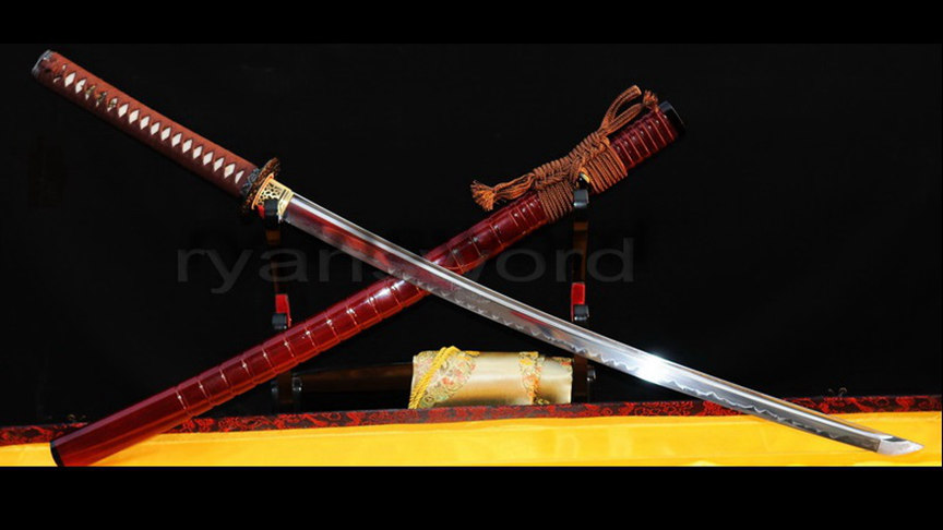 Clay Tempered Katana 1095 High Carbon Steel Blade Full Tang--Ryan218