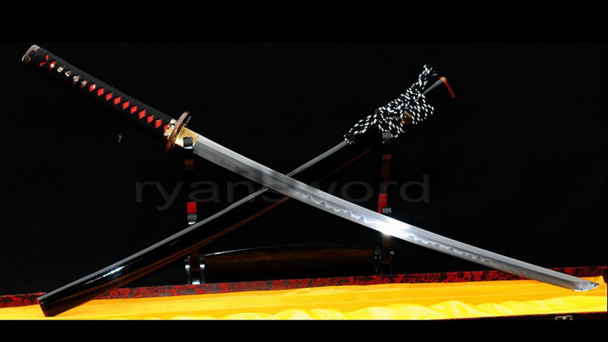Clay Tempered Katana Japanese Samurai Sword Combined Material Full Tang Heavy Cutting-Ryan304