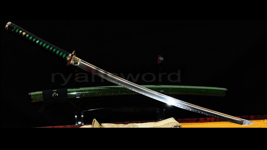 High Quality Japanese Samurai Sword 1095 Carbon Steel Clay Tempered Full Tang--Ryan307