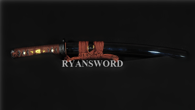 Tanto Japanese Short Sword 1095 Carbon Steel Clay Tempered Sharp--Ryan318