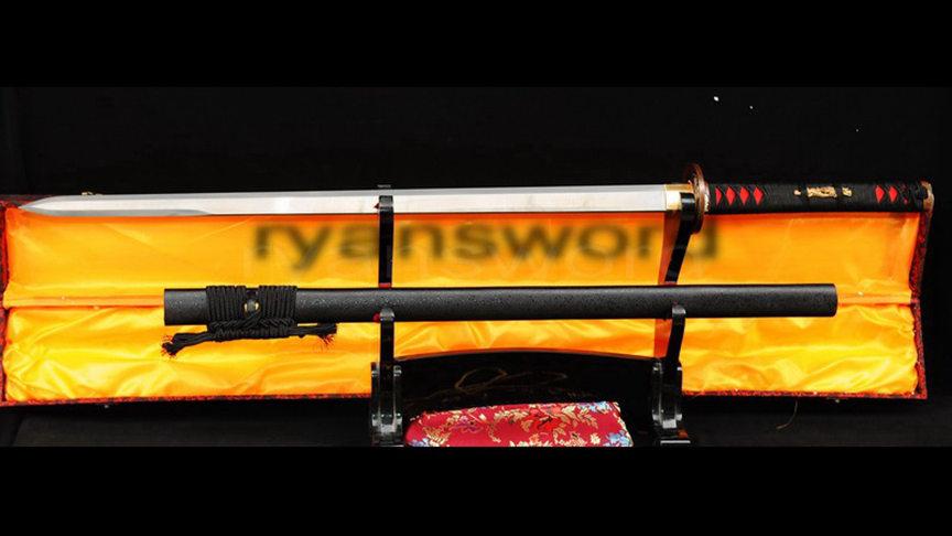 Ninja Chokuto Japanese Sword Straight Blade Copper Tsuba--Ryan333