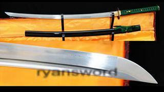 Katana Japanese Sword Damascus Folded Steel Blade Copper Tsuba--Ryan357