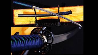 Damascus Katana Folded Steel Blade Alloy Tsuba Sharp--Ryan770