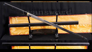 Chinese Straight Blade Sword Jian Double Edged Ebony Shirasaya Battle Ready--Ryan781