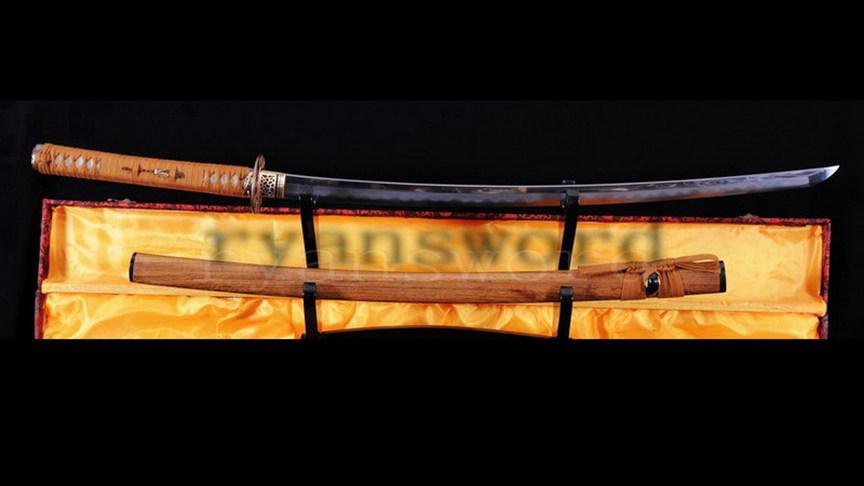 Clay Tempered Katana Japanese Sword Shihozumi Hazuya Polishing Full Tang Sharp--Ryan793